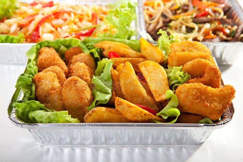 Samolotowy jedzenie zdjęcia royalty free