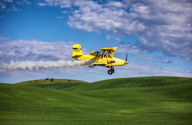 Samolotowy kiści pole zdjęcie royalty free