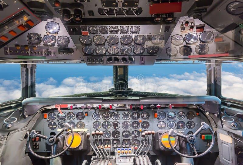 Samolotowy kokpitu widok ilustracja wektor
