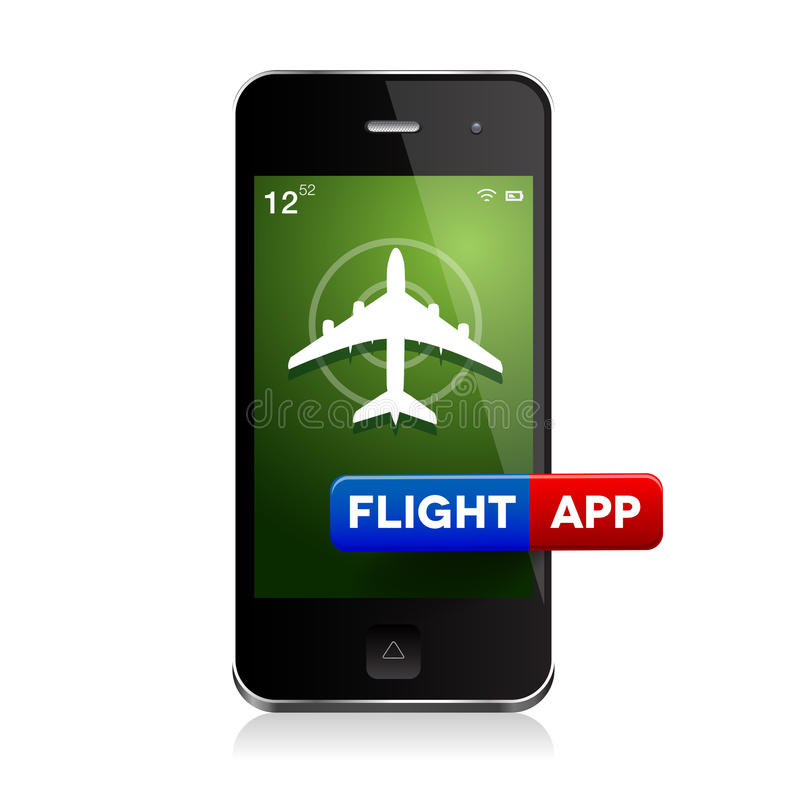 Samolotowy latanie - lot app ilustracja wektor