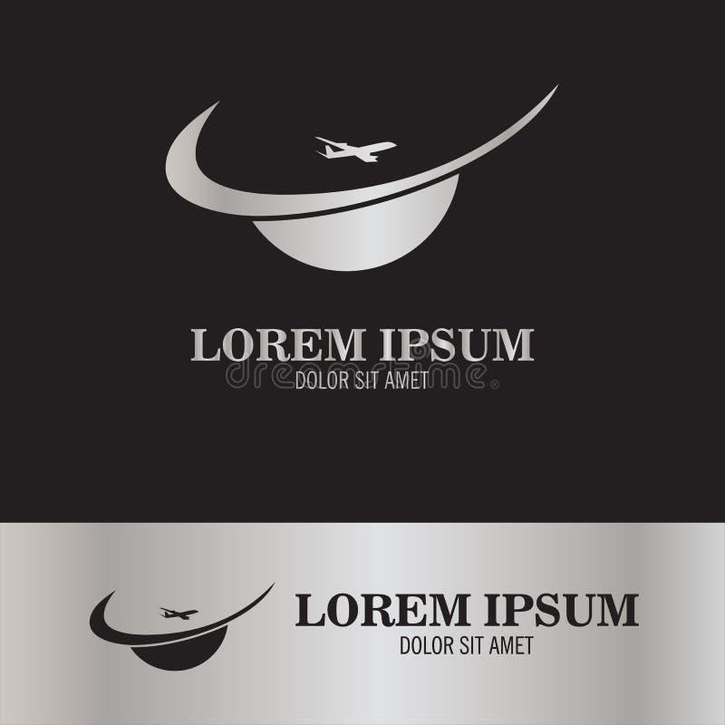 Samolotowy logo ilustracja wektor