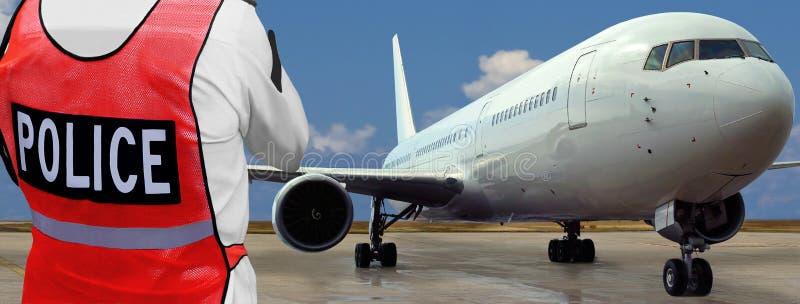 samolotowy lotniska przodu policjant zdjęcie stock
