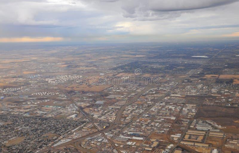 samolotowy miasto Edmonton obraz stock