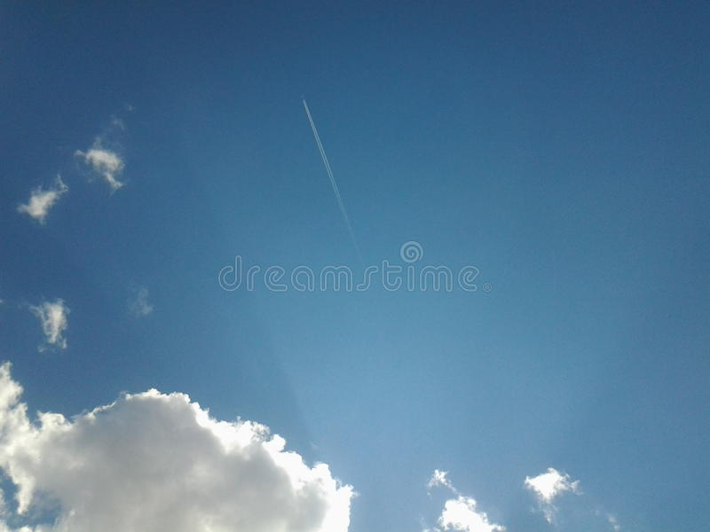 Samolotowy Milky sposób zdjęcie royalty free