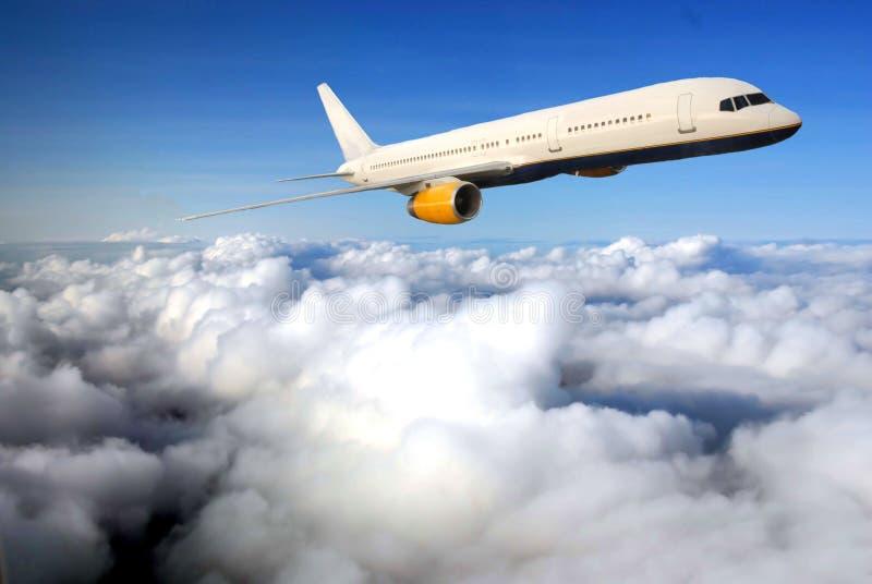 samolotowy niebieskie niebo zdjęcia stock