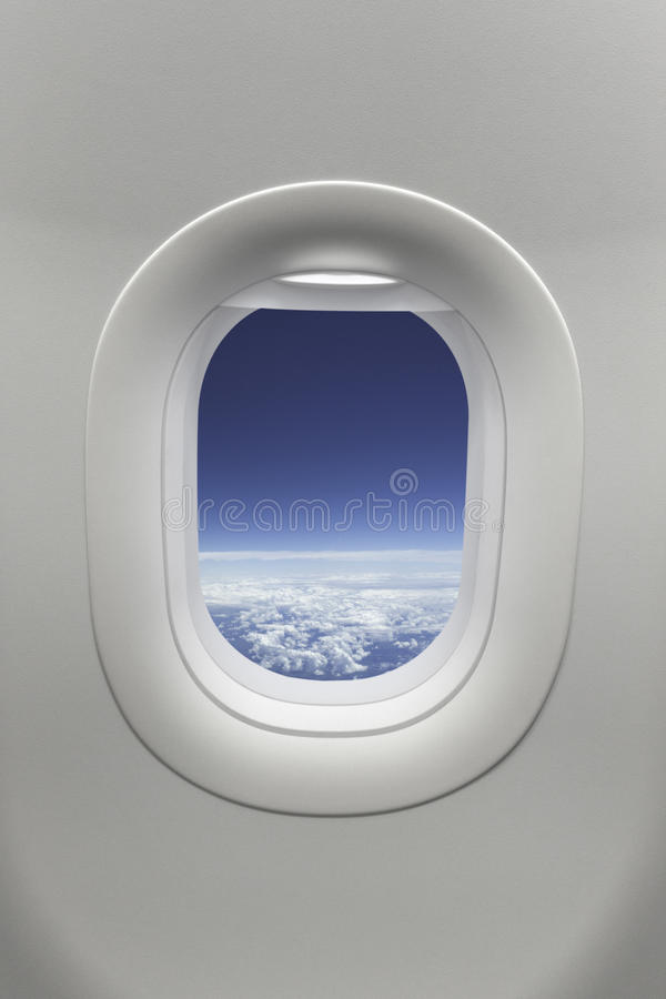 samolotowy okno zdjęcia royalty free