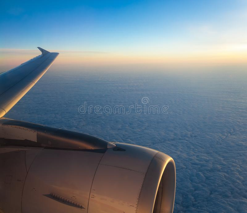 Samolotowy okno strzał zdjęcia royalty free