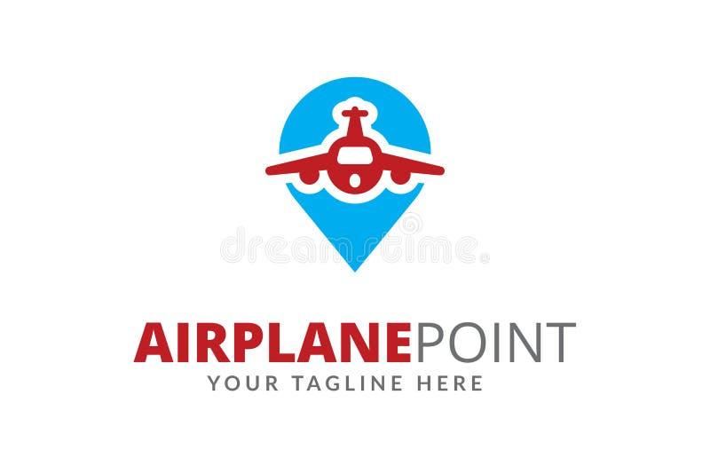 samolotowy punktu loga projekta szablonu wektor zdjęcie stock