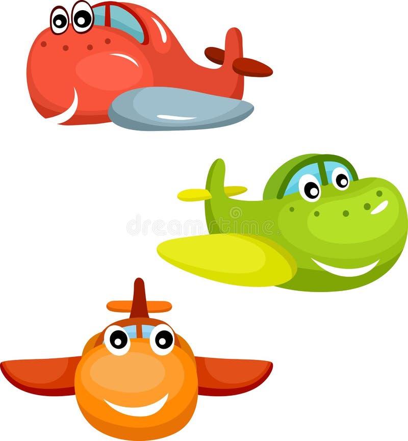 Samolotowy set ilustracja wektor