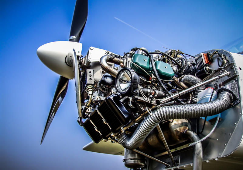 Samolotowy silnik zdjęcia stock