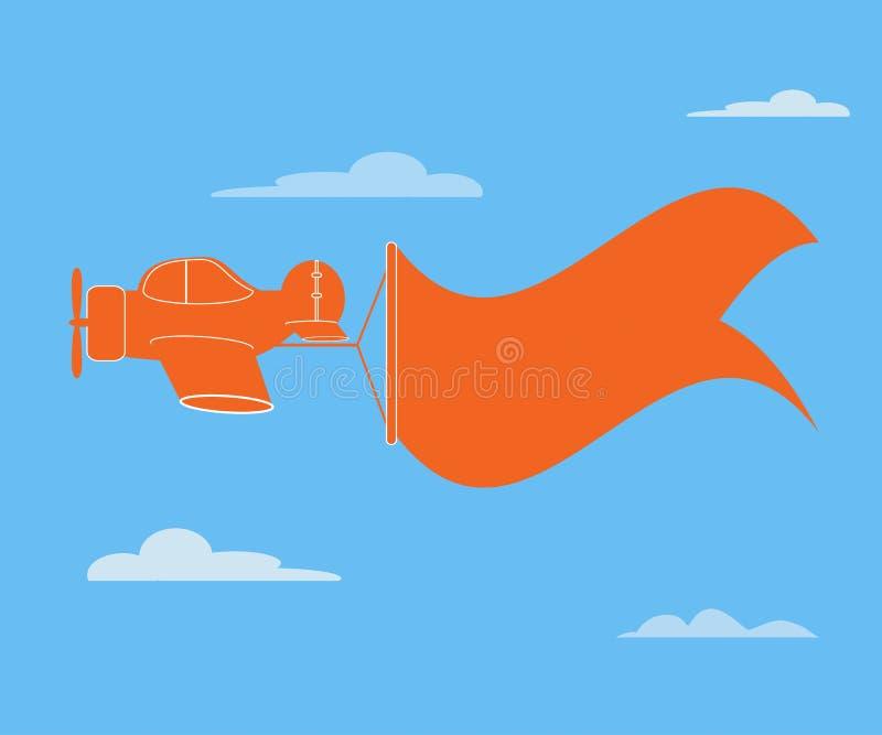 Samolotowy sztandar ilustracji