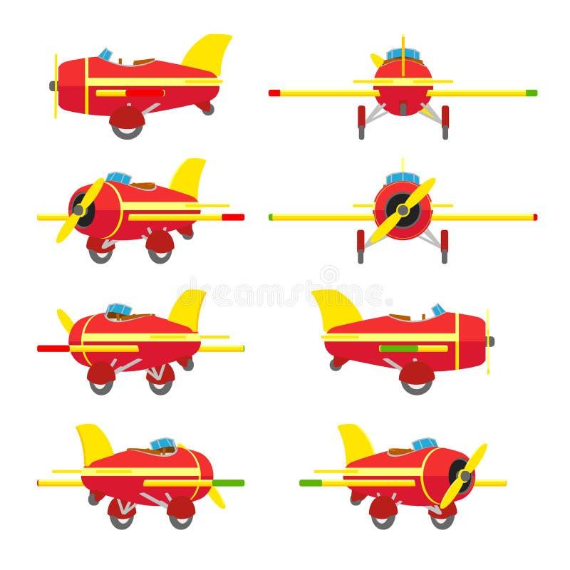 samolotowy tło odizolowywający zabawkarski biel fotografia royalty free