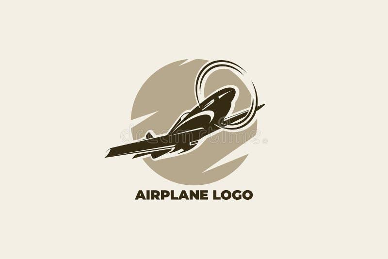 Samolotowy wektorowy logo EPS 10 ilustracji