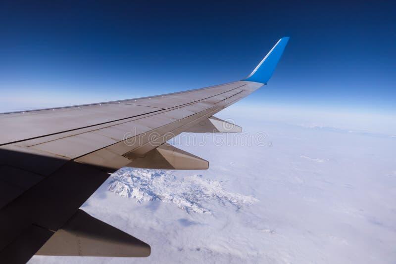 Samolotowy widok z wewnątrz zdjęcia royalty free