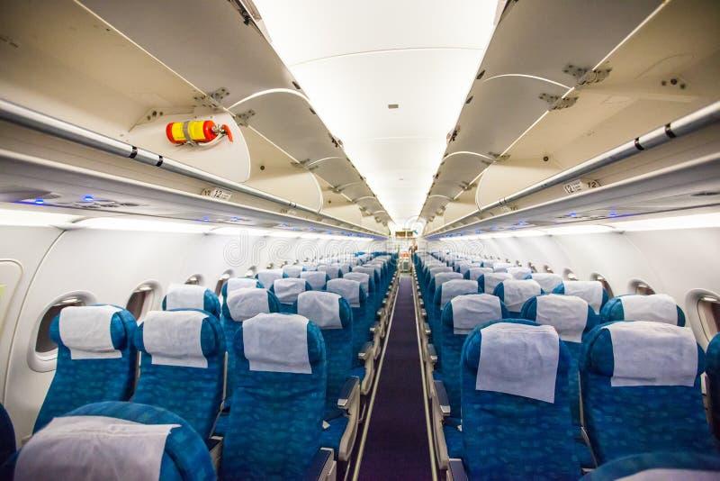 Samolotowy wnętrze bez pasażerów fotografia royalty free