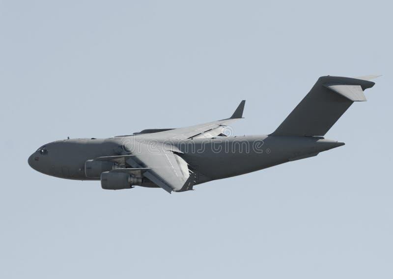 samolotowy wojskowy odtransportowywa obraz stock