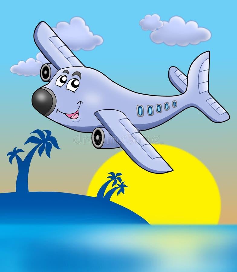 samolotowy zmierzch ilustracji