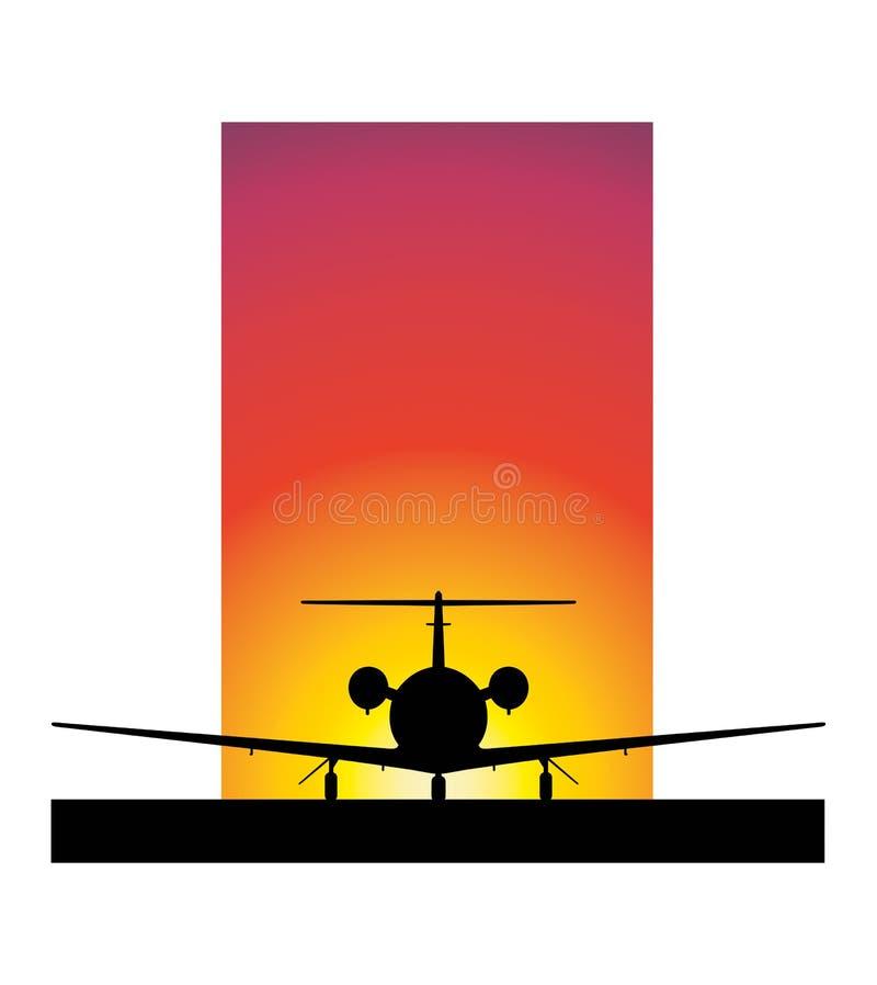 samolotowy zmierzch ilustracja wektor