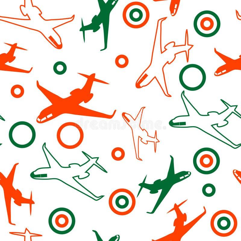 samolotu bezszwowy deseniowy royalty ilustracja