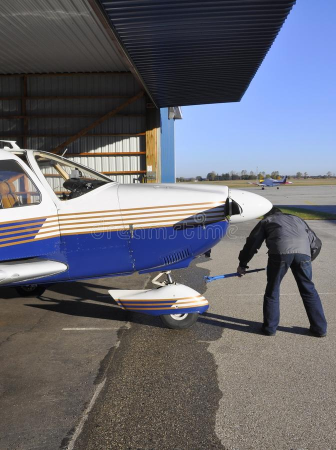 Samolotu ciągnienie obraz stock