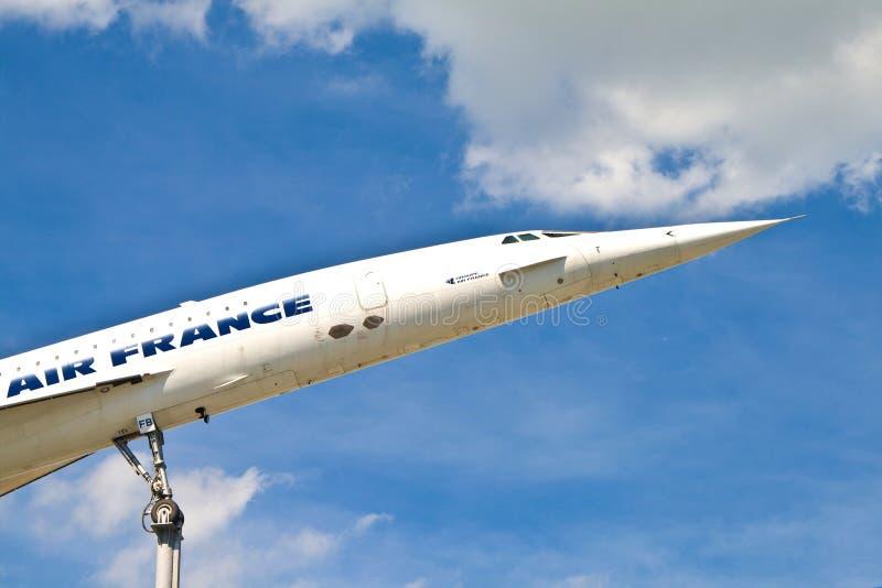 samolotu Concorde muzeum obraz royalty free