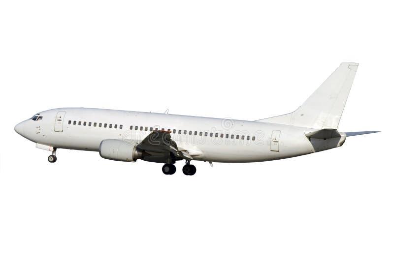 samolotu dżetowy biel fotografia royalty free