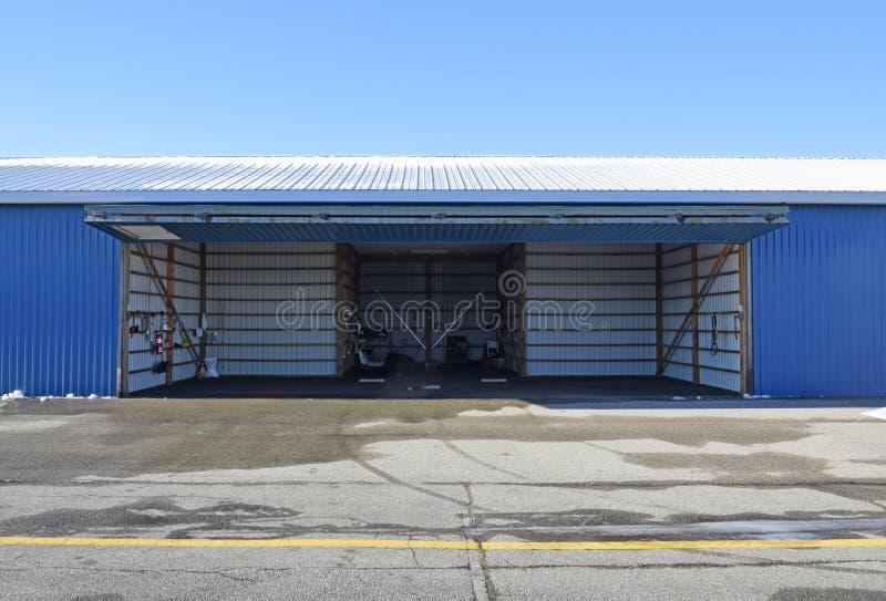 Samolotu hangar zdjęcie stock