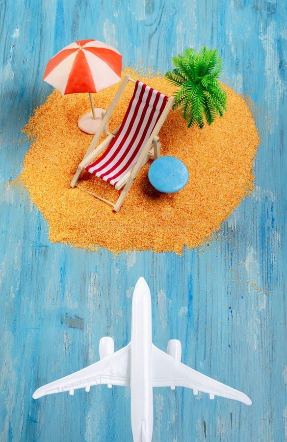 Samolotu i egzota wyspa zdjęcia stock