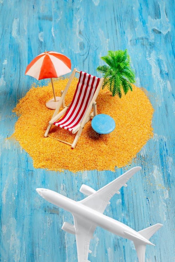 Samolotu i sen wyspa zdjęcia royalty free