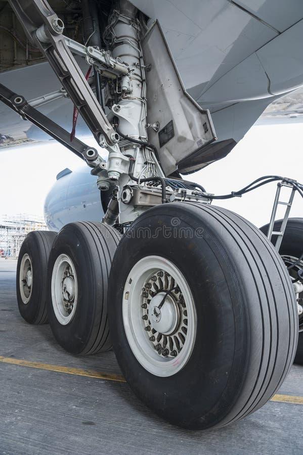 Samolotu koło zdjęcie royalty free
