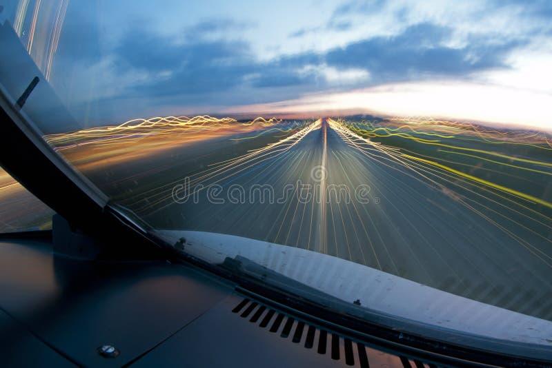 samolotu lądowanie obrazy stock