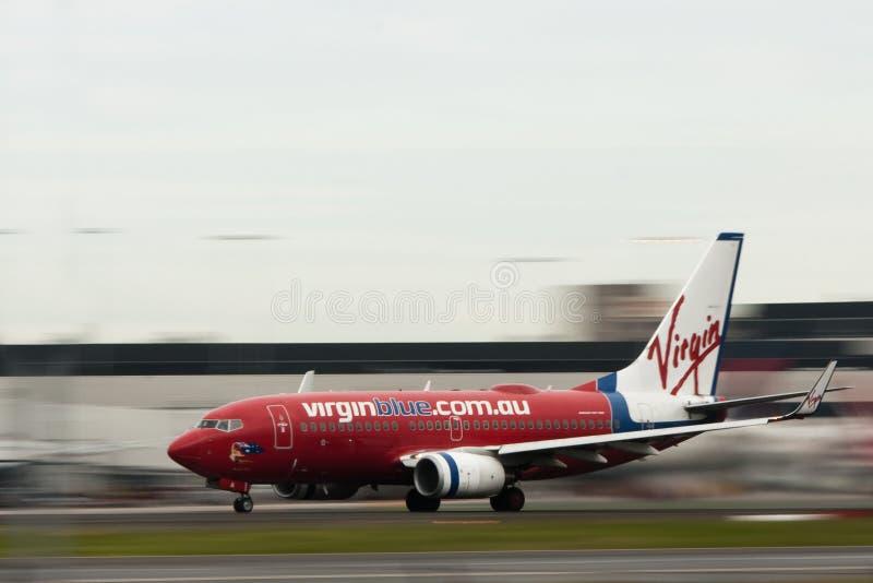 samolotu linii lotniczych strumienia ruchu dziewica fotografia royalty free