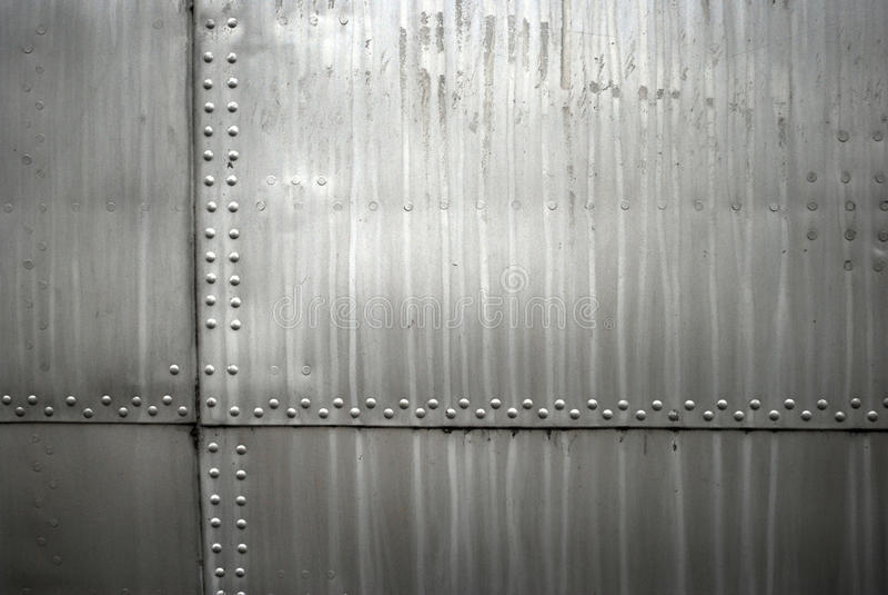 Samolotu metalu tekstura obraz stock