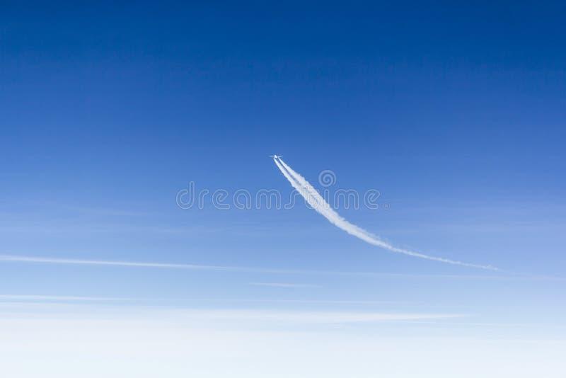 Samolotu odmieniania kurs obrazy royalty free