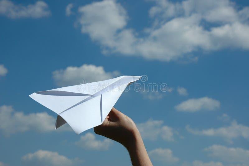 samolotu papier zdjęcie stock