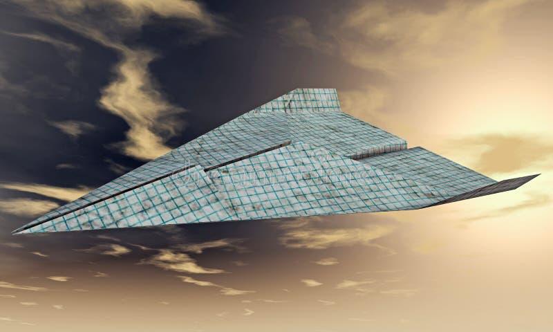 Samolotu papier ilustracja wektor