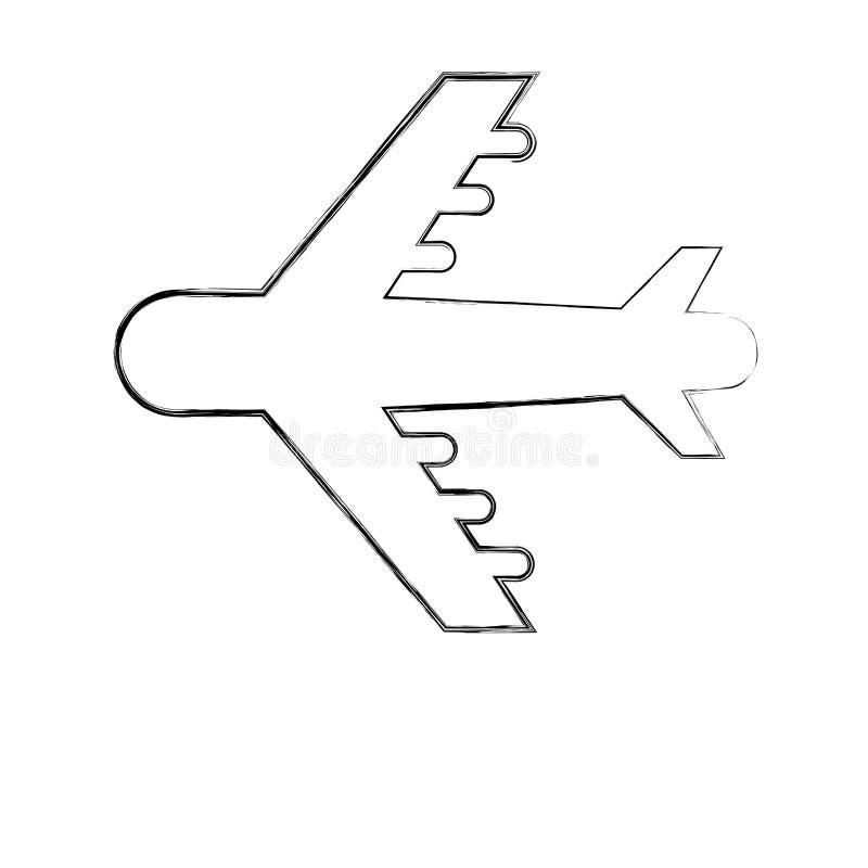 Samolotu przewiezionego piktograma odosobniony wizerunek royalty ilustracja