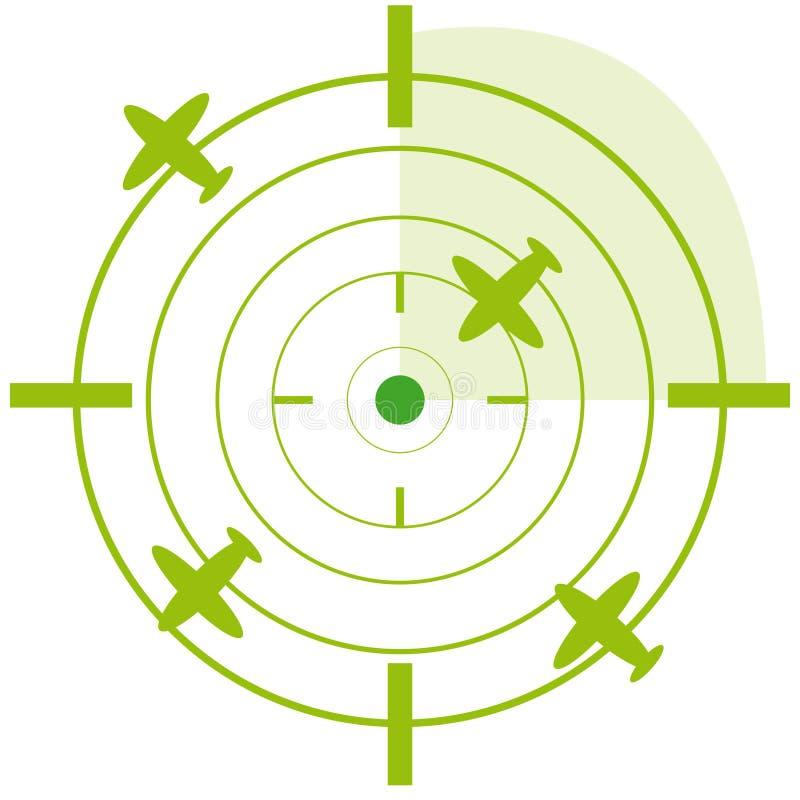 Samolotu radar na białym tle ilustracji