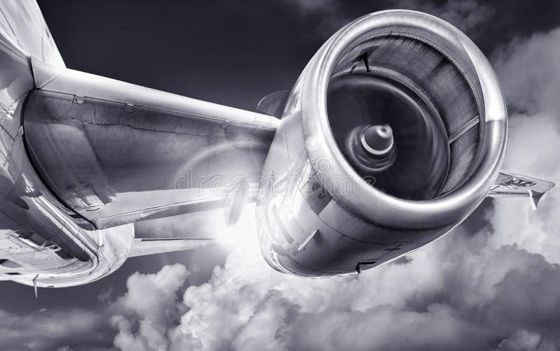 samolotu samolot zmieniający kolorów projekt kształtuje niebo obraz stock