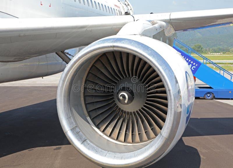 Samolotu silnik fotografia stock