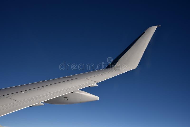 Samolotu skrzydło od okno zdjęcie stock