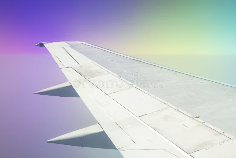 Samolotu skrzyd?o zdjęcie royalty free