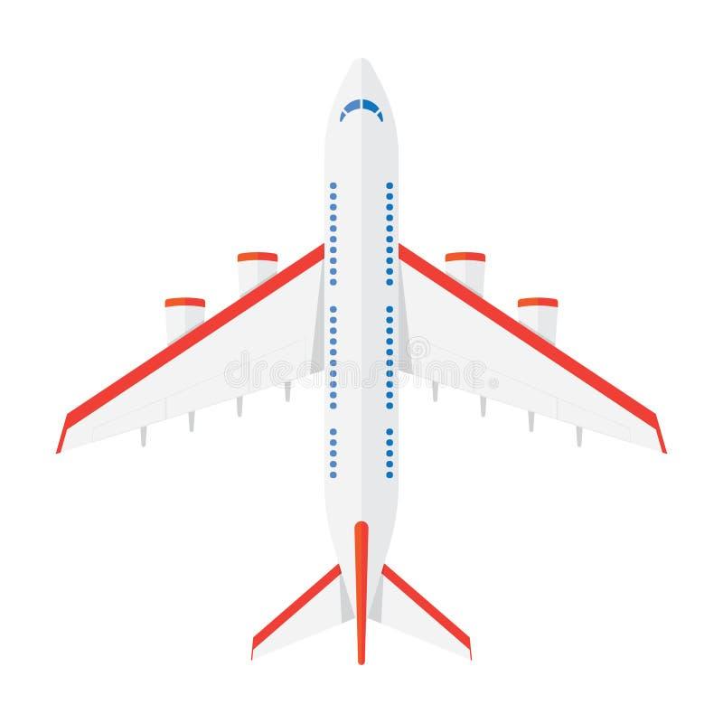 Samolotu widok od above royalty ilustracja