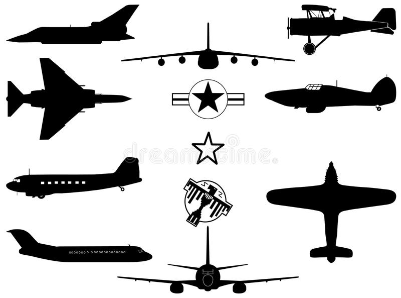 samolotu wojskowy s obrazy stock