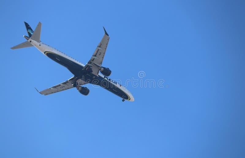 Samoloty działający Brazylijskimi liniami lotniczymi obraz royalty free