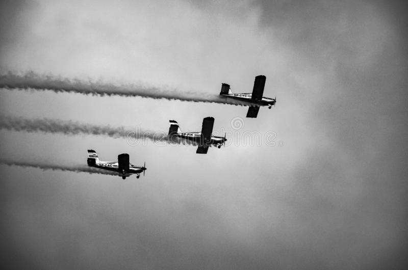 Samoloty podczas pokazu fotografia royalty free