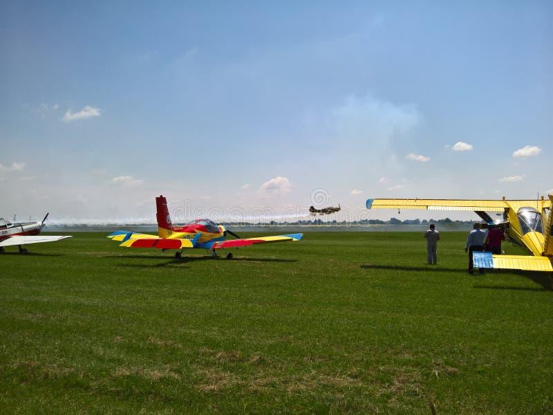 Samoloty przy pokazem lotniczym zdjęcie stock