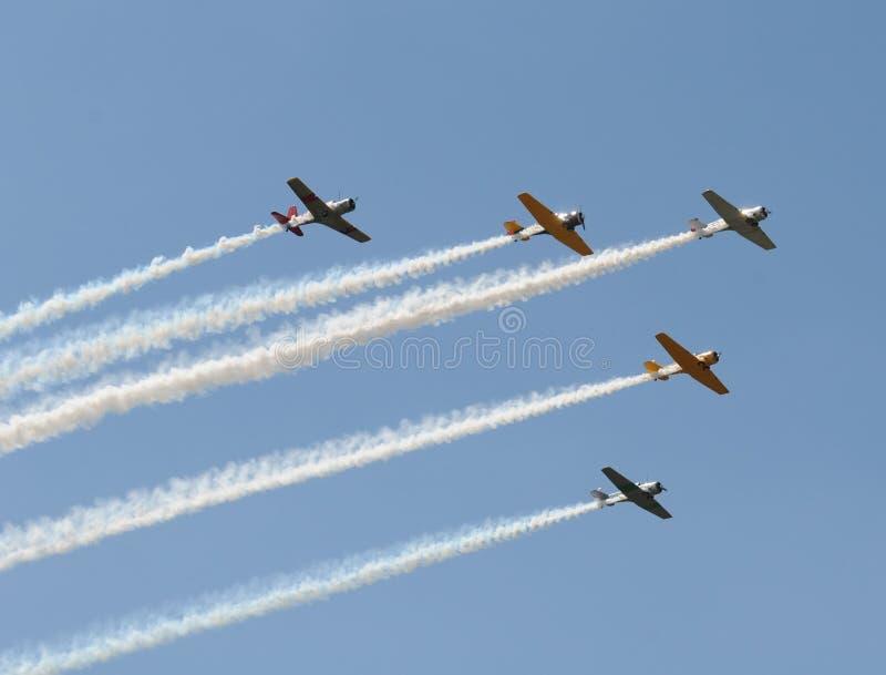 samoloty starzy obraz stock