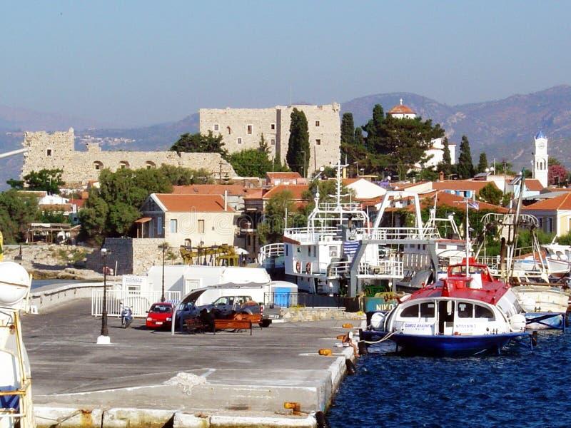 Samos castle stock image