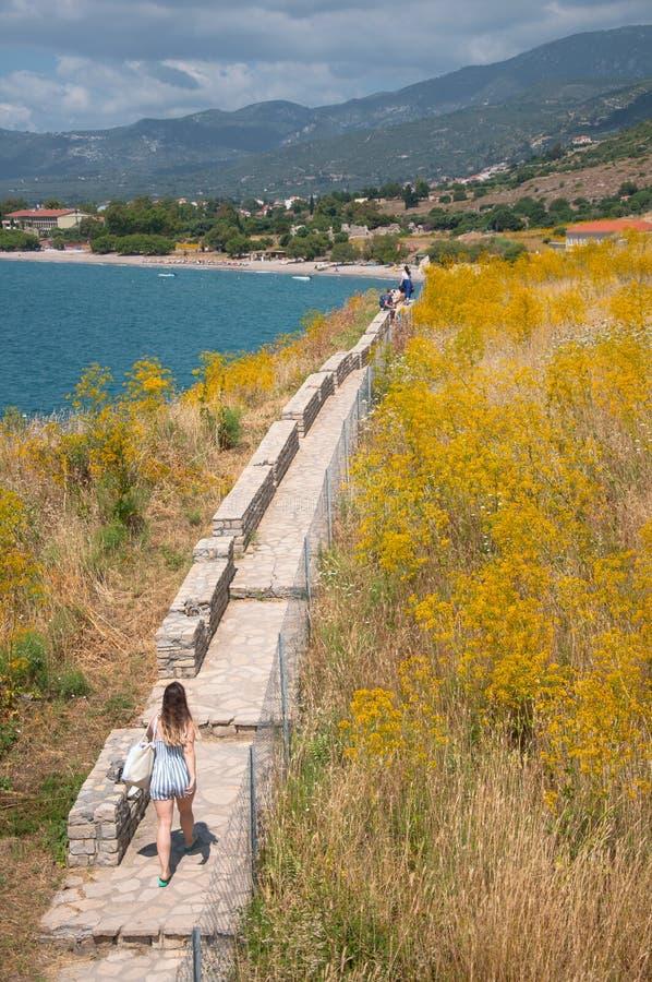Samos-Insel Pythagorio, Seeseite lizenzfreie stockbilder